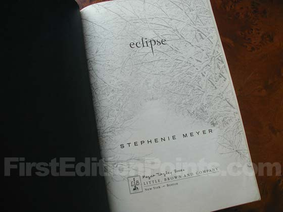 Picture of the first edition title page for Eclipse.