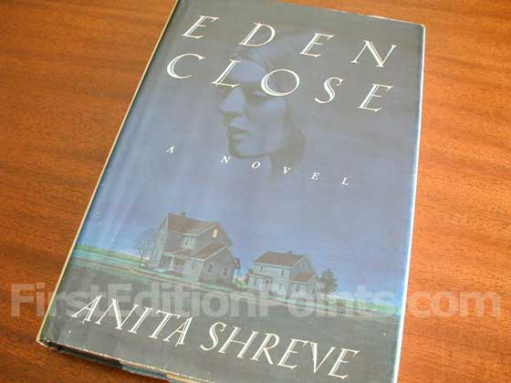 Picture of the 1989 first edition dust jacket for Eden Close.