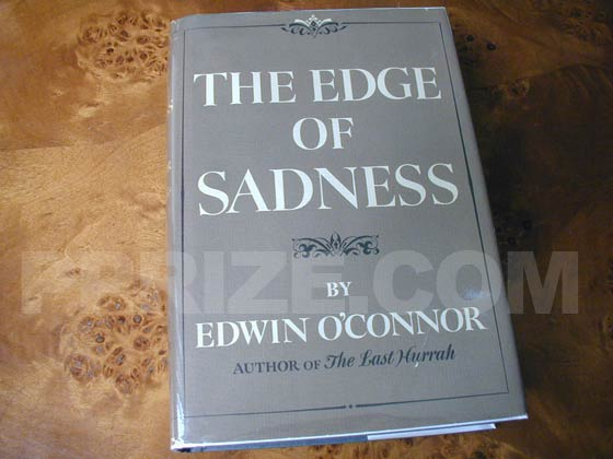 Picture of the 1961 first edition dust jacket for The Edge of Sadness.