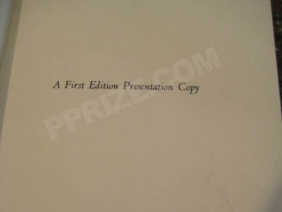 "Some copies of the first edition have a special tipped in page that states ""A First"