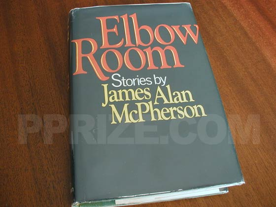 Picture of the 1977 first edition dust jacket for Elbow Room.