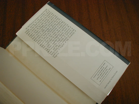 Picture of the back dust jacket flap for Elbow Room.