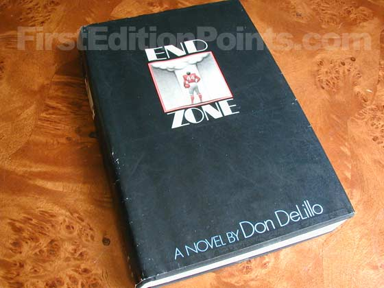 Picture of the 1972 first edition dust jacket for End Zone.