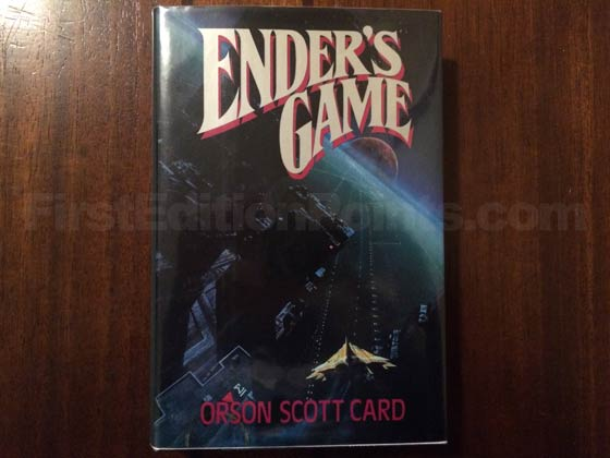 Picture of the 1985 first edition dust jacket for Ender's Game.