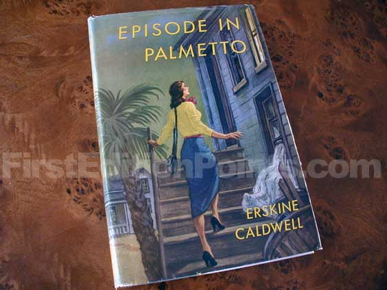 Picture of the 1950 first edition dust jacket for Episode in Palmetto.