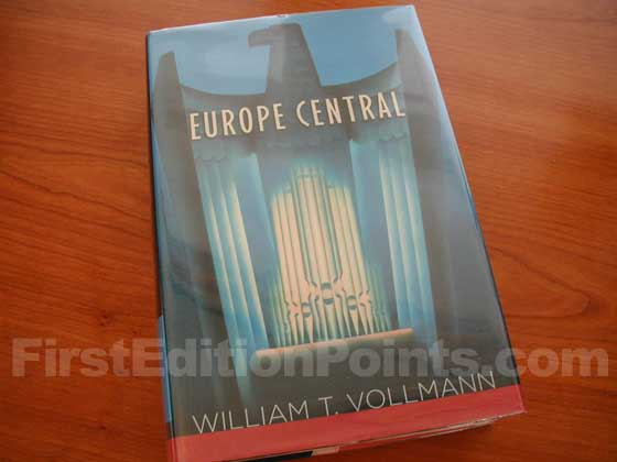 Picture of the 2005 first edition dust jacket for Europe Central.