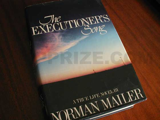 Picture of the 1979 first edition dust jacket for The Executioner's Song.
