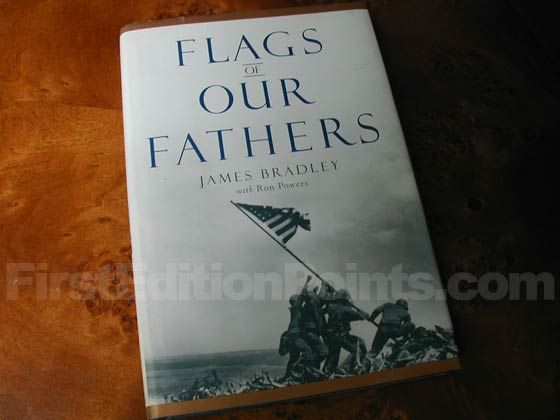 Picture of the 2000 first edition dust jacket for Flags Of Our Fathers.