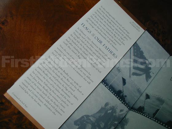 Picture of dust jacket where original $24.95 price is found for Flags Of Our Fathers.