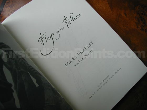 Picture of the first edition title page for Flags Of Our Fathers.