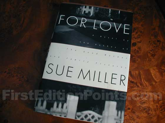 Picture of the 1993 first edition dust jacket for For Love.