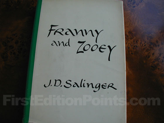 Picture of the 1961 first edition dust jacket for Franny and Zooey.
