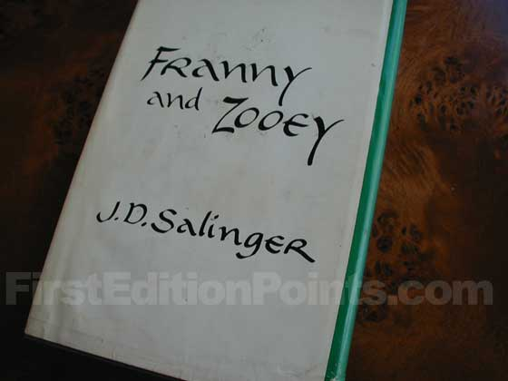 Picture of the back dust jacket for the first edition of Franny and Zooey.