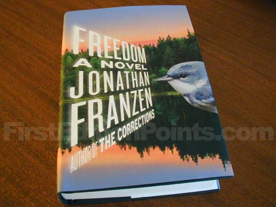 Picture of the 2010 first edition dust jacket for Freedom.