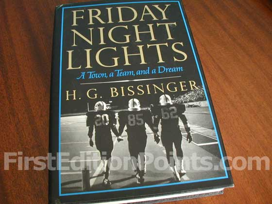 Picture of the 1990 first edition dust jacket for Friday Night Lights.