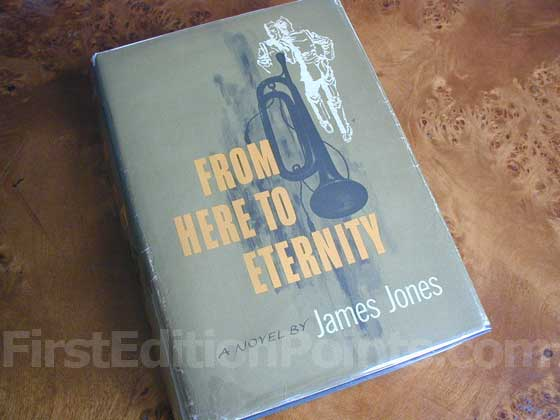 Picture of the 1951 first edition dust jacket for From Here to Eternity.
