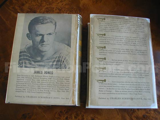 On the left is the back of the first issue dust jacket that was issued with the first