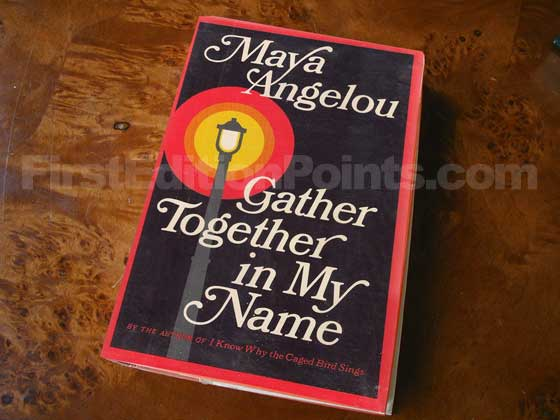 Picture of the 1974 first edition dust jacket for Gather Together in My Name.