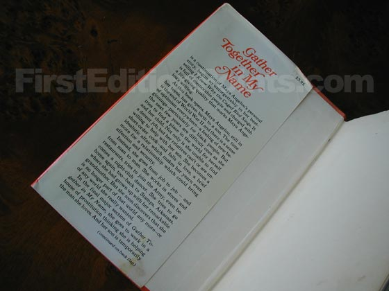 Picture of dust jacket where original $5.95 price is found for Gather Together in My