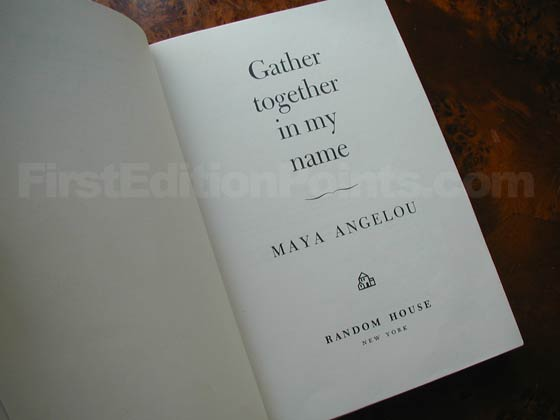 Picture of the first edition title page for Gather Together in My Name.