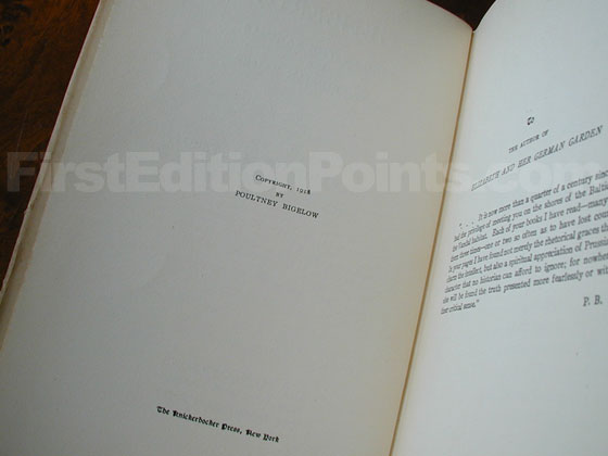 Picture of the first edition copyright page for Genseric.