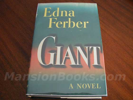 Picture of the 1952 first edition dust jacket for Giant.