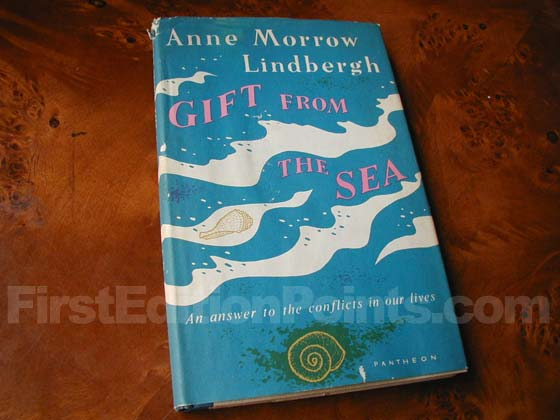 Picture of the 1955 first edition dust jacket for Gift from the Sea.