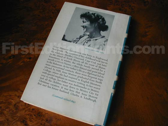 Picture of the back dust jacket for the first edition of Gift from the Sea.