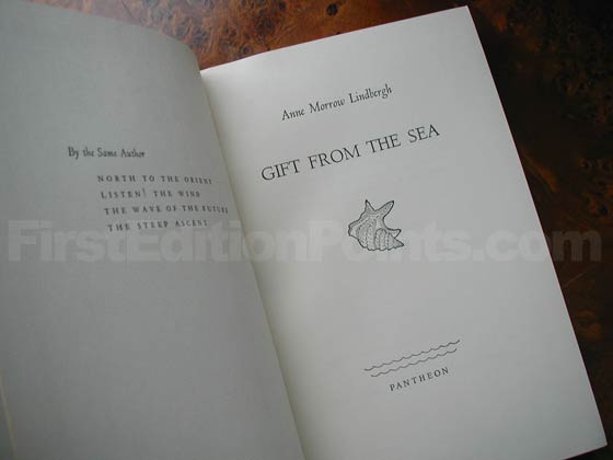 Picture of the first edition title page for Gift from the Sea.