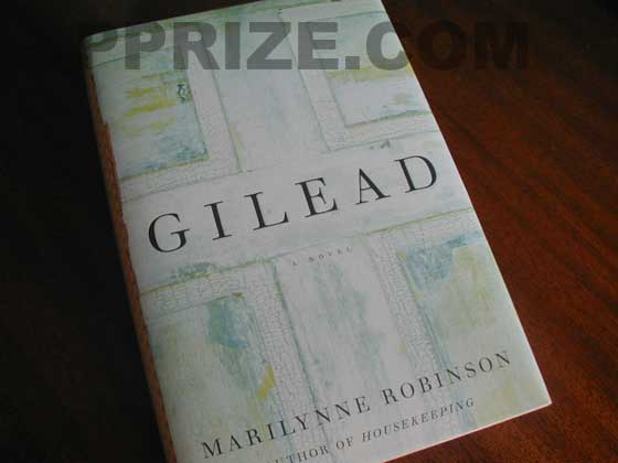 Picture of the 2004 first edition dust jacket for Gilead.