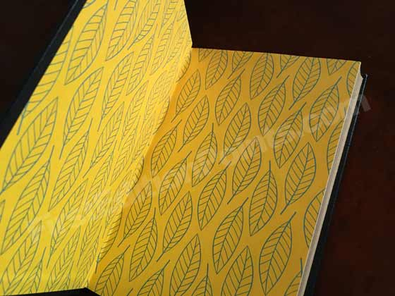 The Limited Leather-bound Edition of Go Set a Watchman features gold end-papers with a