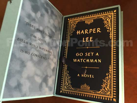 The Signed Collector's Edition of Go Set a Watchman was issued in a velvet lined