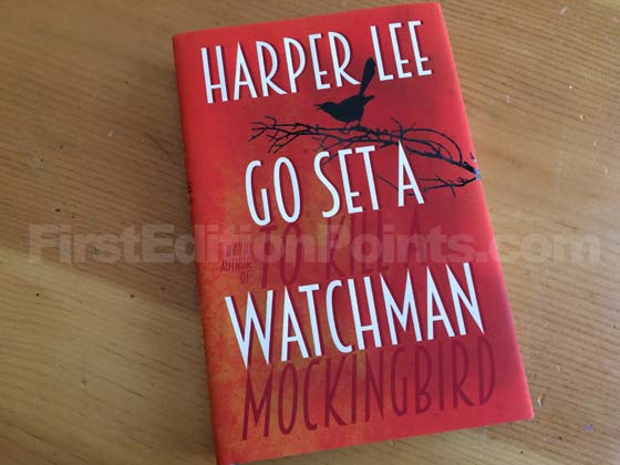 Picture of the 2015 UK first edition dust jacket for Go Set a Watchman.