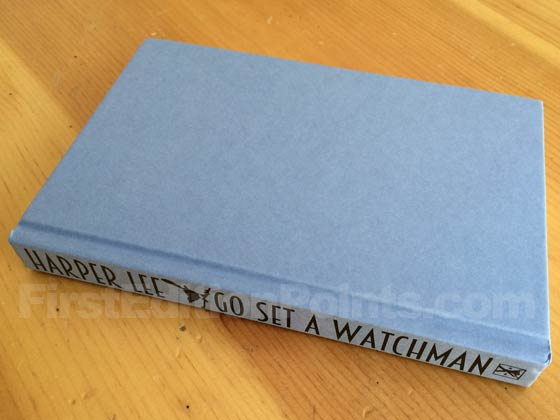 Picture of the UK first edition William Heinemann boards for Go Set a Watchman.