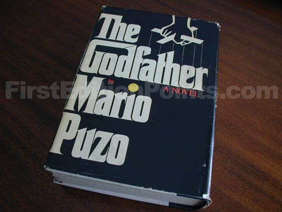 Picture of the back dust jacket for the first edition of The Godfather.