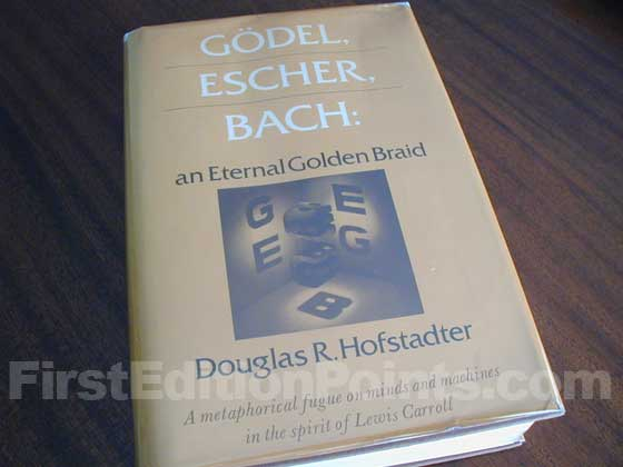 Picture of the 1979 first edition dust jacket for Godel, Escher, Bach.