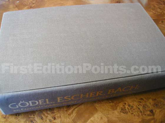 Picture of the first edition Basic Books boards for Godel, Escher, Bach.