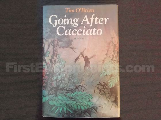 Picture of the 1978 first edition dust jacket for Going after Cacciato.
