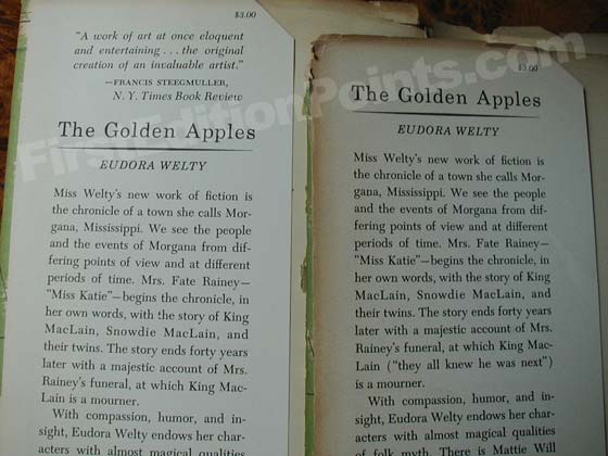 The front flap of the second issue dust jacket (on the left) has a review by Francis