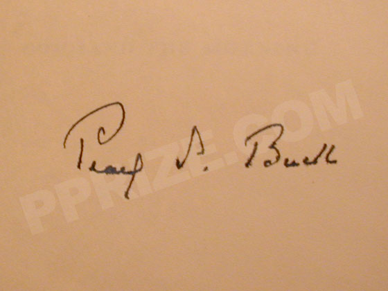 Pearl S. Buck's signature