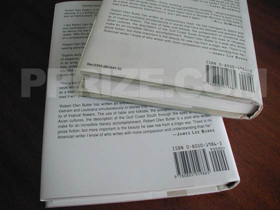 "The book on the top is a first printing.  It has ""Ret:0392:001945:50"" on the bottom left "