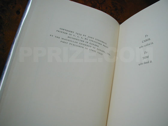 "First printings have a single statement on the copyright page that says ""FIRST PUBLISHED"