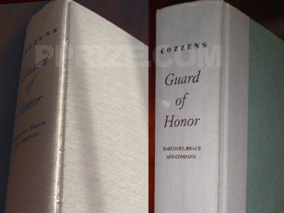The book on the left is the true first edition.  The book on the right is a reprint.