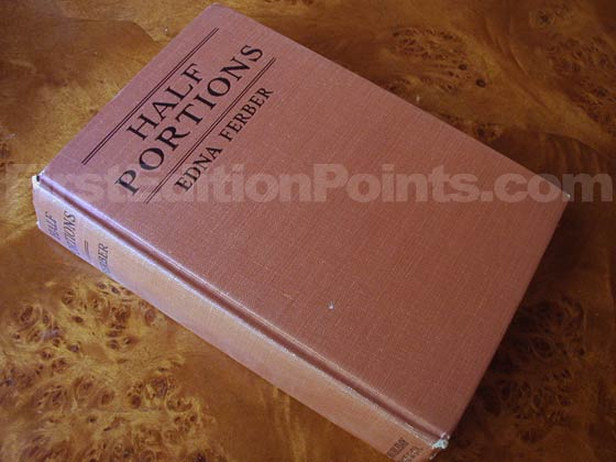 Picture of the first edition Doubleday, Page boards for Half Portions.