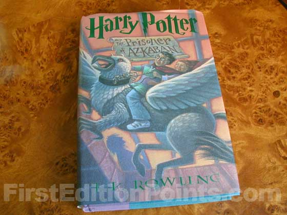 Picture of the 1999 first edition dust jacket for Harry Potter and the Prisoner of