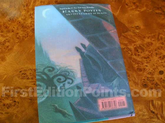 Picture of the back dust jacket for the first edition of Harry Potter and the Prisoner of