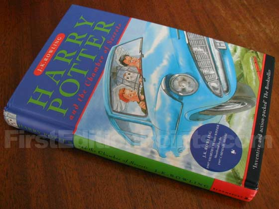 Picture of the first edition Bloomsbury boards for Harry Potter and the Chamber of