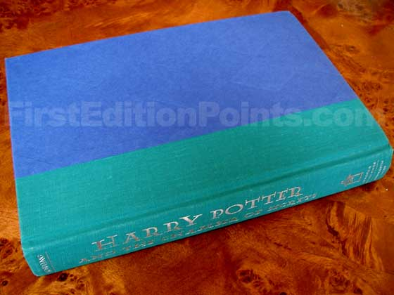 Picture of the first edition Scholastic Press boards for Harry Potter and the Chamber of