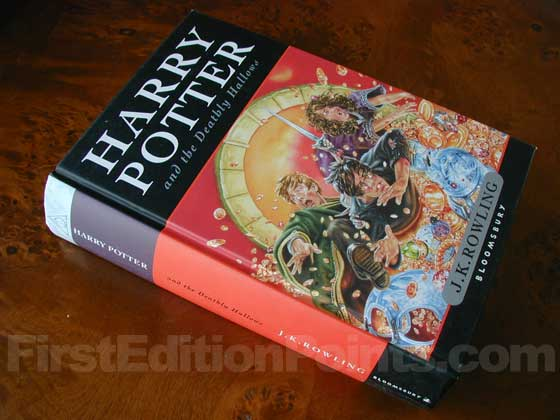 Picture of the first edition Bloomsbury boards for Harry Potter and the Deathly Ha