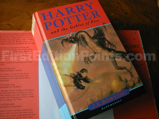 Picture of the first edition Bloomsbury boards for Harry Potter and the Goblet of Fire.